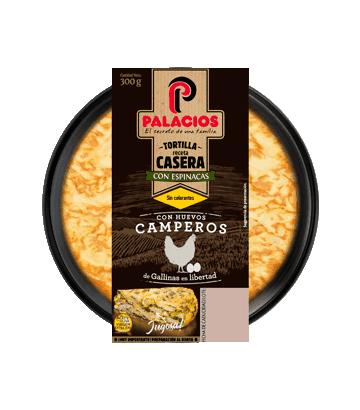 Tortilla fresca con espinacas