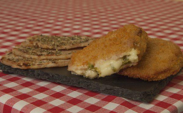 Lomitos con pimientos y queso